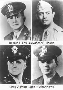 Four chaplains from Wikipedia