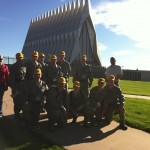 USAFA Freethinkers in front of the USAFA Chapel