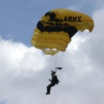 Army parachutist at Rock Beyond Belief