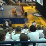 Midshipmen fill the stands for humanist support