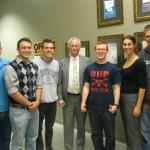 Dr Dawkins meets with USAFA cadets in Boulder