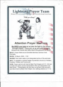 Prayer walk flyer - click for full size