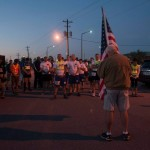 Morning prayer at the run with Team Cobra standing tall.