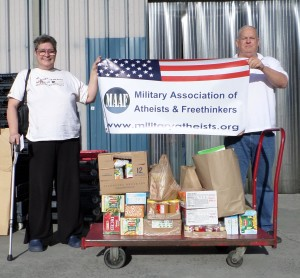 MAAF Ft Bragg Solstice Food Drive Collection