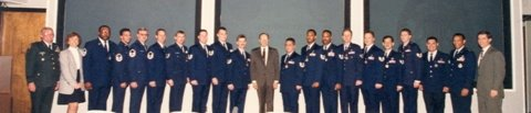 Fred Green just to the right of Secretary Perry in 1995
