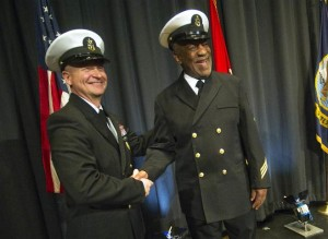 Bill Cosby with MCPON Rick West